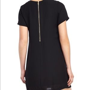 Olivaeous Black Silky Tee Dress Size: M